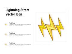 Lightning Strom Vector Icon Ppt Inspiration Infographic Template PDF