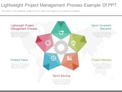 Lightweight Project Management Process Example Of Ppt