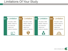 Limitations Of Your Study Ppt PowerPoint Presentation File Guidelines