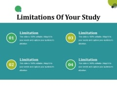 Limitations Of Your Study Ppt PowerPoint Presentation Ideas Slide