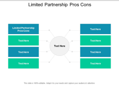 Limited Partnership Pros Cons Ppt PowerPoint Presentation Gallery Graphics Template Cpb