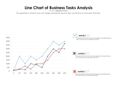 Line Chart Of Business Tasks Analysis Ppt PowerPoint Presentation Layouts Skills PDF