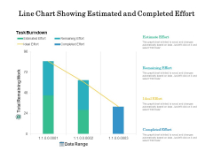 Line Chart Showing Estimated And Completed Effort Ppt PowerPoint Presentation File Show PDF