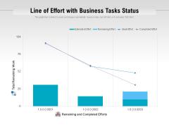 Line Of Effort With Business Tasks Status Ppt PowerPoint Presentation File Designs PDF