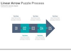 Linear Arrow For Management Development Steps Powerpoint Template