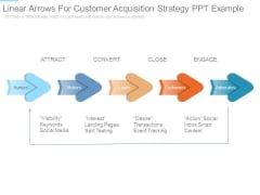Linear Arrows For Customer Acquisition Strategy Ppt Example