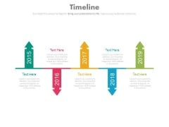 Linear Arrows Year Based Timeline For Business Powerpoint Slides