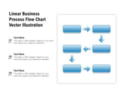 Linear Business Process Flow Chart Vector Illustration Ppt PowerPoint Presentation File Smartart PDF