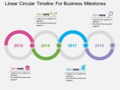 Linear Circular Timeline For Business Milestones Powerpoint Template