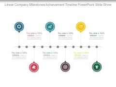 Linear Company Milestones Achievement Timeline Powerpoint Slide Show
