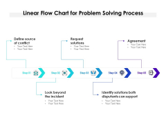 Linear Flow Chart For Problem Solving Process Ppt PowerPoint Presentation Icon Gallery PDF
