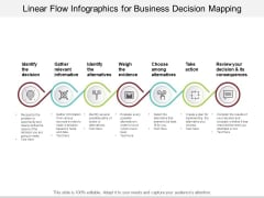 Linear Flow Infographics For Business Decision Mapping Ppt PowerPoint Presentation Infographics Graphics Example