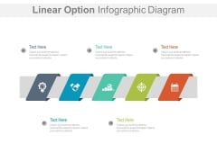 Linear Options Infographic For Qualitative Market Research Powerpoint Slides