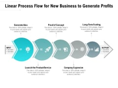 Linear Process Flow For New Business To Generate Profits Ppt PowerPoint Presentation Slides Picture PDF