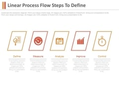 Linear Process Flow Steps To Define Ppt Slides
