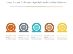 Linear Process For Business Agenda Powerpoint Slide Influencers