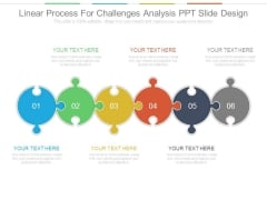 Linear Process For Challenges Analysis Ppt Slide Design