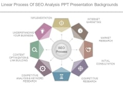 Linear Process Of Seo Analysis Ppt Presentation Backgrounds