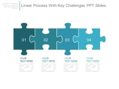 Linear Process With Key Challenges Ppt Slides