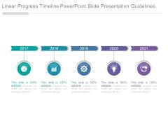 Linear Progress Timeline Powerpoint Slide Presentation Guidelines