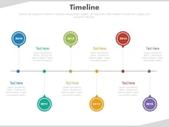 Linear Representation Of Timeline Events Powerpoint Slides