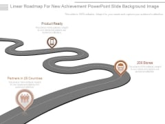 Linear Roadmap For New Achievement Powerpoint Slide Background Image