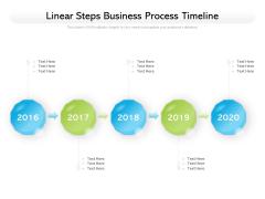Linear Steps Business Process Timeline Ppt PowerPoint Presentation Portfolio Information PDF