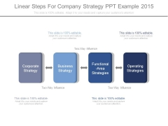 Linear Steps For Company Strategy Ppt Example 2015