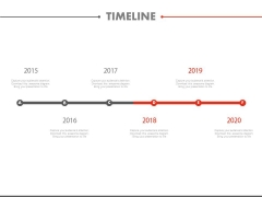 Linear Timeline For Business Success Milestones Powerpoint Slides