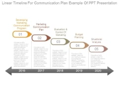 Linear Timeline For Communication Plan Example Of