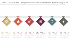 Linear Timeline For Company Milestones Powerpoint Slide Background