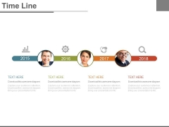 Linear Timeline For Management Functions Powerpoint Slides