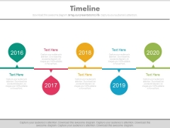 Linear Timeline For Specific Organizational Objectives Powerpoint Slides