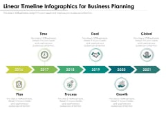 Linear Timeline Infographics For Business Planning Ppt PowerPoint Presentation Gallery Topics PDF
