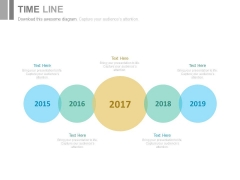 Linear Timeline With Years For Business Powerpoint Slides