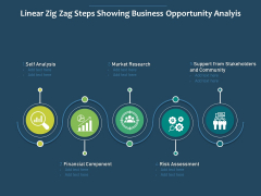 Linear Zig Zag Steps Showing Business Opportunity Analyis Ppt PowerPoint Presentation Show Grid PDF
