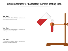 Liquid Chemical For Laboratory Sample Testing Icon Ppt PowerPoint Presentation Styles Diagrams PDF