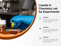 Liquids In Chemistry Lab For Experiments Ppt PowerPoint Presentation Gallery Introduction PDF