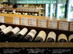 Liquor Bottles With Price List Ppt PowerPoint Presentation Layouts Layout Ideas