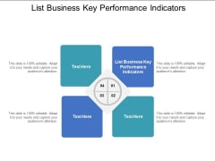 List Business Key Performance Indicators Ppt PowerPoint Presentation Icon Designs Download