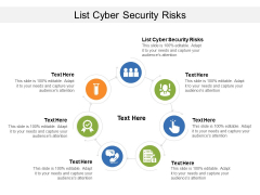 List Cyber Security Risks Ppt PowerPoint Presentation File Example File Cpb