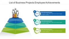 List Of Business Projects Employee Achievements Ppt Layouts Graphics Template PDF