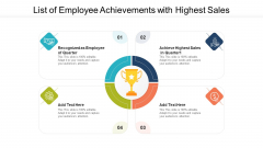List Of Employee Achievements With Highest Sales Ppt Gallery Layouts PDF