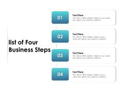 List Of Four Business Steps Ppt PowerPoint Presentation Slides Templates