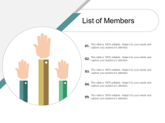 List Of Members Ppt Powerpoint Presentation Outline Gridlines