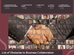 List Of Obstacles To Business Collaboration Ppt PowerPoint Presentation File Skills PDF