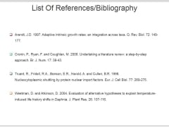 List Of References Bibliography Ppt PowerPoint Presentation Files