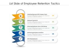 List Slide Of Employee Retention Tactics Ppt PowerPoint Presentation File Rules PDF