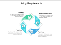 Listing Requirements Ppt PowerPoint Presentation File Microsoft Cpb