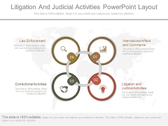Litigation And Judicial Activities Powerpoint Layout